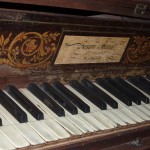 old piano (Spinet) in the monastery, imported from England