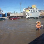 Flooded street in Arequipa