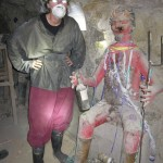 """""""El Tio"""" (the uncle owning the minerals) on the right...and some """"interesting"""" creature on the left ;-)"""