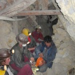 Visiting some real miners still working there - it is after all NOT a museum
