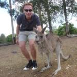 Thorsten und das Känguruh beim Syncronhüpfen