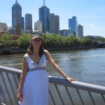 Melbourne skyline on a beautiful and hot day