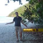 No swimming at the beautiful beaches (huge salties around)...