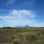 Tongariro Crossing from the distance
