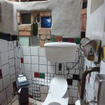 Hundertwasser toilet from the inside