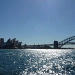 Harbour cruise panoramic view onto the Sydney CBD