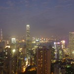 Hong Kong by night...the light show is on :-)