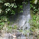 Paku waterfall...and at least one of us made it into the water