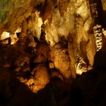 Stalagmites and stalactites everywhere - water is playing around with the stone here