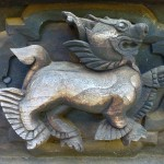 Inwa - wood carvings in old monastry