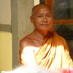 Amarapura - Tourist monk from Thailand