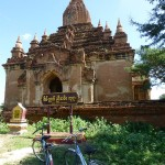 Bagan temples - with our mode of transportation