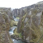 Fjadrargljufur canyon - cut in deep by the river of thousands of years