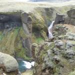 Fjadrargljufur canyon - water inflow