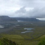 Panoramic view from Skaftafell onto the plains