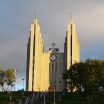 Modern design church in Akureryi