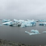 The glacier lagoon is huge