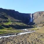 Impressive Henigfoss waterfall