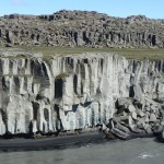 Rock formations around Selfoss and Dettifoss waterfalls
