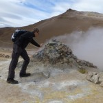 Hot steam coming out of some openings at Hverir indicates the power below your feet