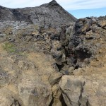 Huge cracks in the lava crust - mind the gap