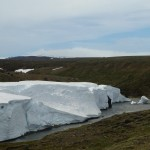 Remaining snow from the winter - in July!