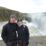 Another group picture with waterfall, this time Gullfoss