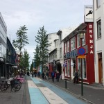 Main shopping street in Reykjavik
