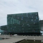 Futuristic Harpa music hall