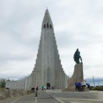 Odd-shaped Hallgrimskirkja