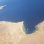 Red Sea shoreline from above