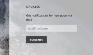 Widget to subscribe for updates, visitor / not registered user (Pro extension)